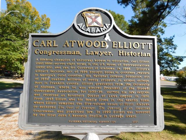 Carl Atwood Elliott Historic Marker