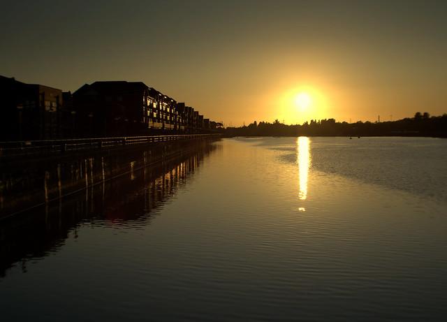 Shine over Preston Docks
