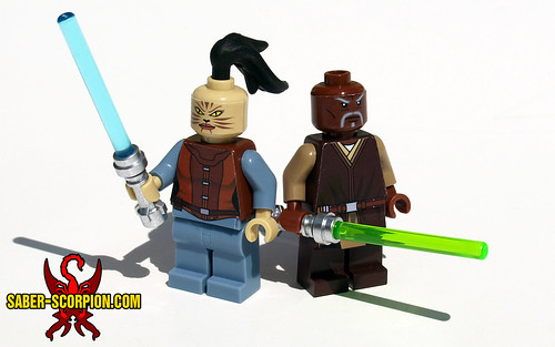 LEGO Star Wars KotOR Juhani and Jolee | by Saber-Scorpion
