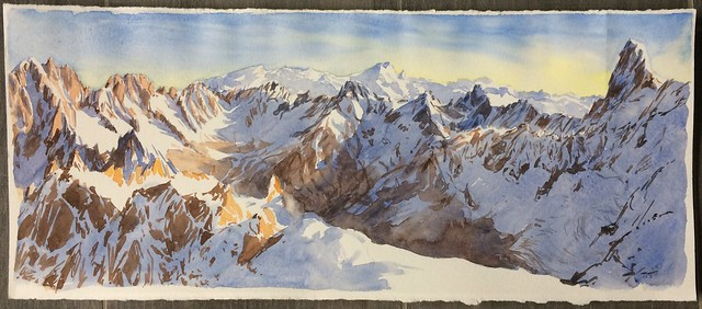 East morning view from Aiguille du Midi