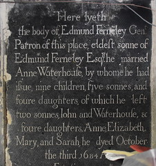 by whome he had issue nine children, five sonnes and foure daughters, 1684