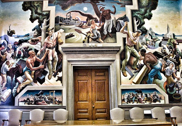Jefferson City  Missouri ~ State Capitol  ~  The House Lounge - Mural