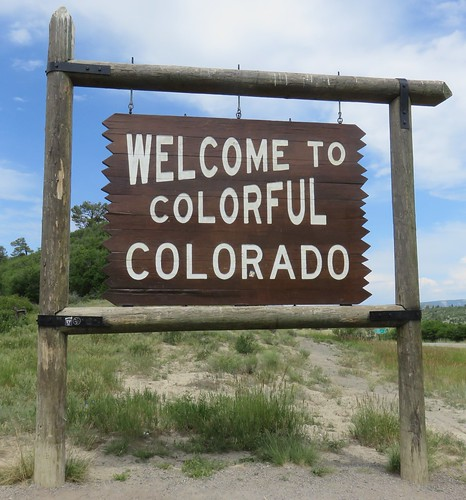 colorado co statesigns statewelcomesigns archuletacounty rockymountains northamerica unitedstates us ushighway84