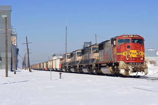 BNSF 8243 Hillsboro 23 Feb 08