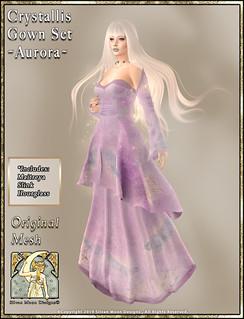 Crystallis Gown Set-Aurora Promo Art