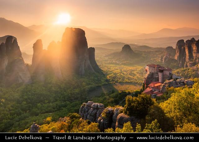 Greece - Metéora - UNESCO World Heritage Site - Magical Sunset