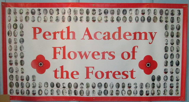 Flowers of the Forest, Perth Academy, Scotland, World War 1