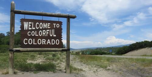 colorado co landscapes statesigns statewelcomesigns archuletacounty rockymountains northamerica unitedstates us ushighway84