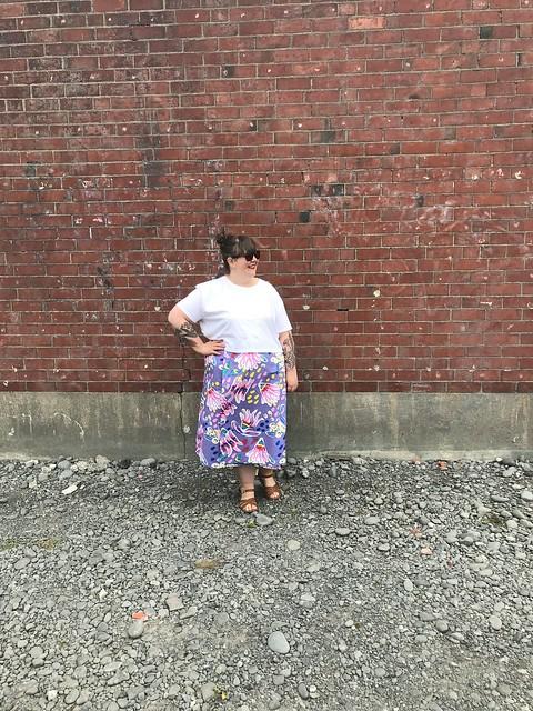 Peppermint Wrap Skirt Cotton