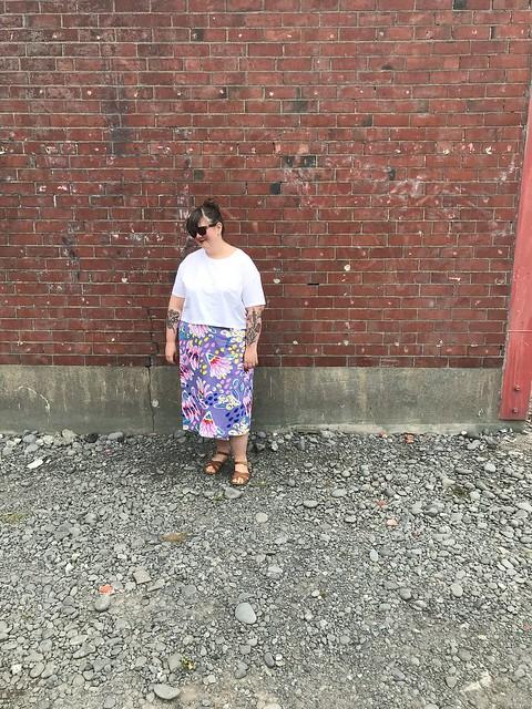 Peppermint Wrap Skirt Cotton 3