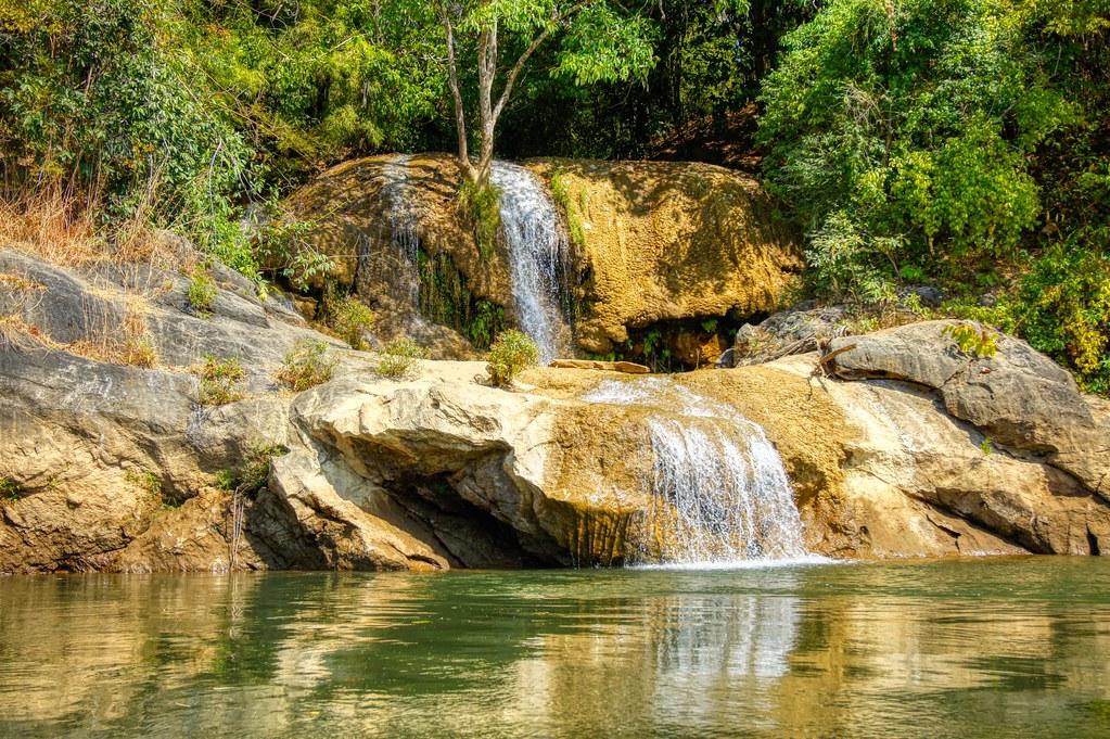 Sai Yok Yai waterfall on the river Kwae Noi in Kanchanaburi, Thailand