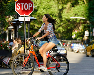 Brunette Bicyclist