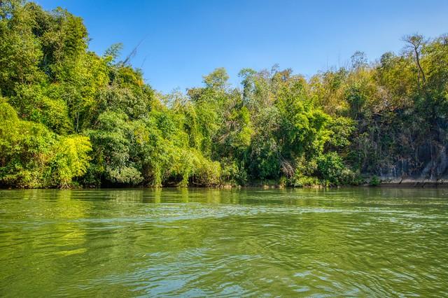 River Kwae Noi near Sai Yok in Kanchanaburi, Thailand