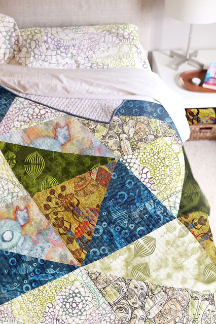 modern contemporary patchwork chic