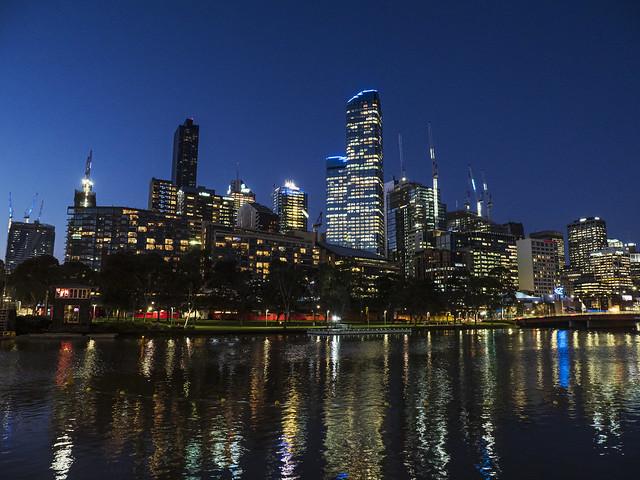 Melbourne night skyline