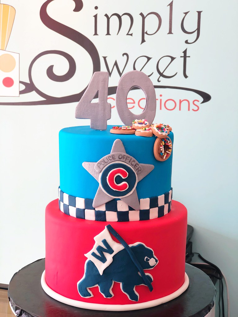 Admirable Chicago Police Officer Cubs Fan Birthday Cake A Photo On Flickriver Funny Birthday Cards Online Alyptdamsfinfo