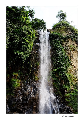 harrypwt borders framed westjava fujix70 x70 water landscape rural trees green sentul waterfall