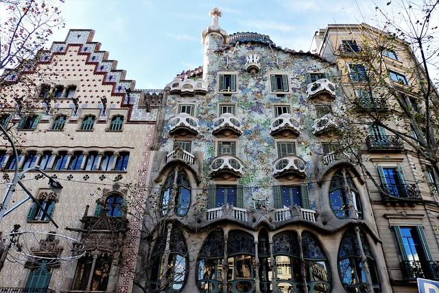 Barcelona - Casa Batlló de Gaudí.