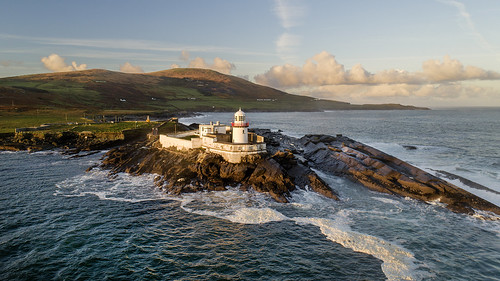 ocean ireland light irish lighthouse island kerry atlantic countykerry valentia wildatlanticway sea sunrise dawn rocks