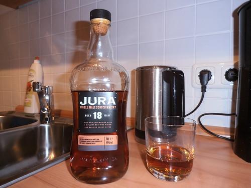 One Shot of Jura Single Malt Scotch Whisky, Aged 18 Years, 44%