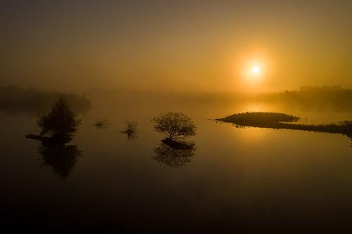 drage drohne morgen morgensonne nebel sonnenaufgang wetter mavic