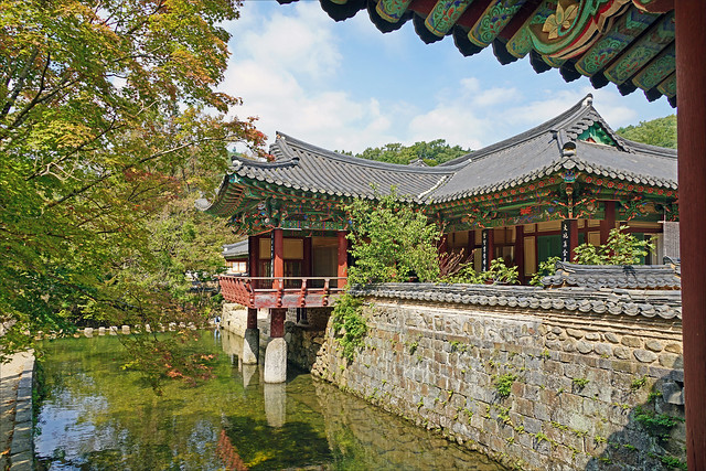 L'enceinte du temple Songgwang-sa (Corée du sud)