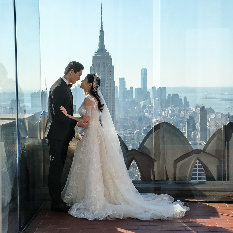 Walk In new York - Mariage au Top Of The Rock avec comme seul Temoin l Empire State Building 03