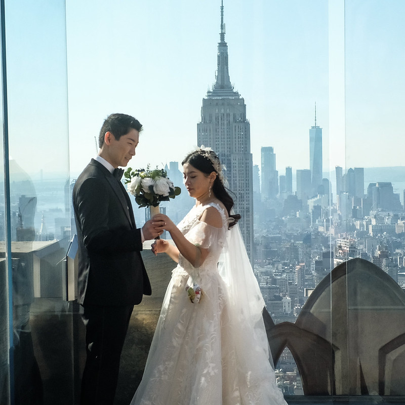 Walk In new York - Mariage au Top Of The Rock avec comme seul Temoin l Empire State Building 01