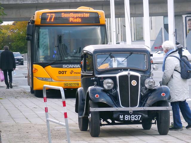 1937 Morris 8 M81937 parked on Copenhagen pavement