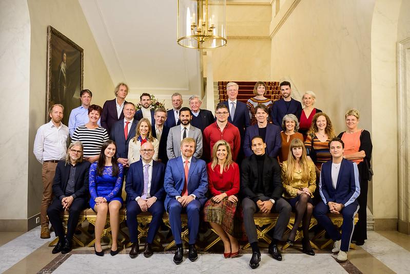 Koning Willem-Alexander en Koningin Máxima der Nederlanden bieden lunch aan voor uitblinkers (November 2019)