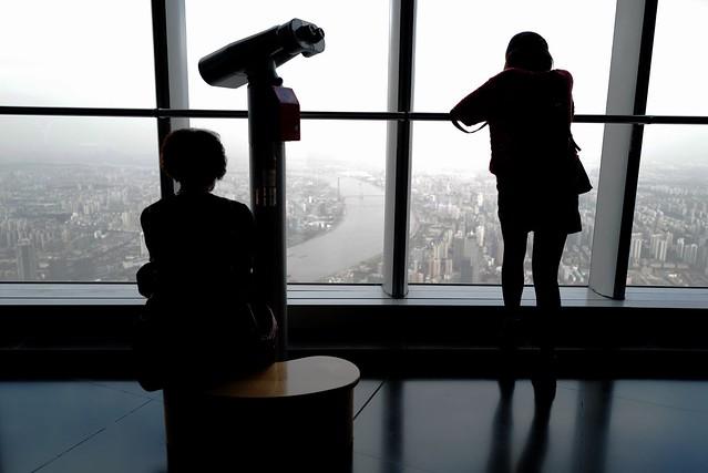 Taking rest in 118 floor