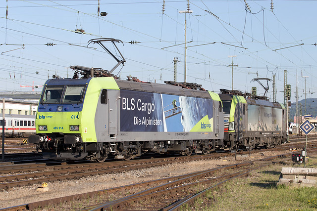BLS Re 485 014 + 475 402 Basel Bad