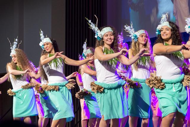 Dancers Representing Tahiti at BYU Luau