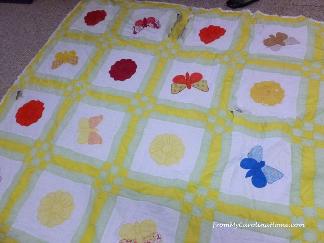 Raw Edge Applique Quilt Repair at FromMyCarolinaHome.com