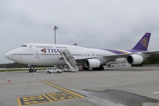 Boeing B747 400 Thai Airways HS-TGZ ZRH Zurich Airport Switzerlad 2019