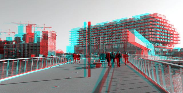 Rijnhavenbrug Rotterdam 3D B&W