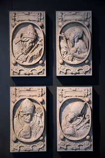 Münster, Westfalen, Landesmuseum, 4 fathers of the church