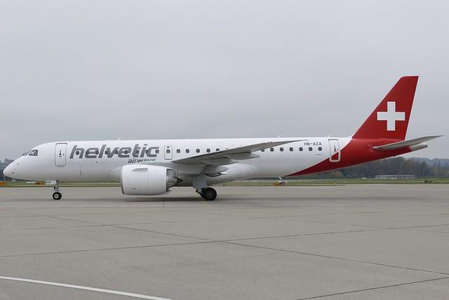 Embraer E190 E2 Helvetic Airways HB-AZA ZRH Zurich Airport Switzerland 2019