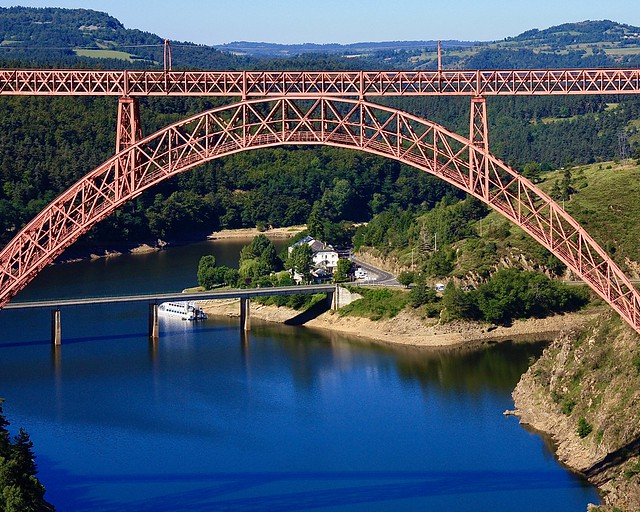 Viaduc de Garabit Gustave Eiffel Cantal Auvergne France