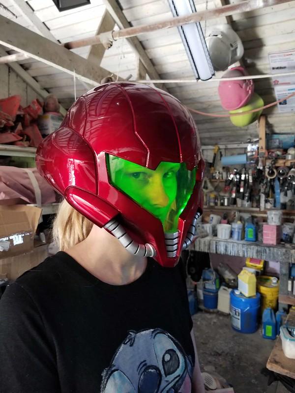 Samus Helmet Progress 001