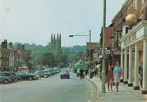 High Street, Marlborough old posctard late 1960s | by Spottedlaurel