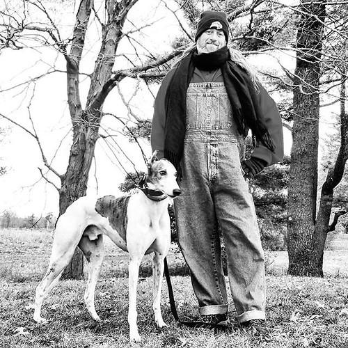 Adventurers in black and white #blackandwhite #Cane #dogsofinstagram #greyhound #greyhoundsofinstagram #KnoxFarm #eastaurora #wny #autumn #nature #hiking #trees #overalls #dungarees #biboveralls #vintage #oldnavy #oldnavyoveralls #denimoveralls #overallsa