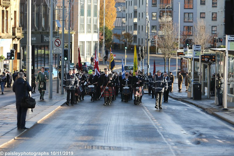 Paisley Remembrance Day at Paisley Cenotaph   (1)