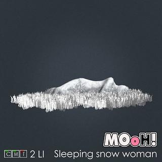 Sleeping snow woman