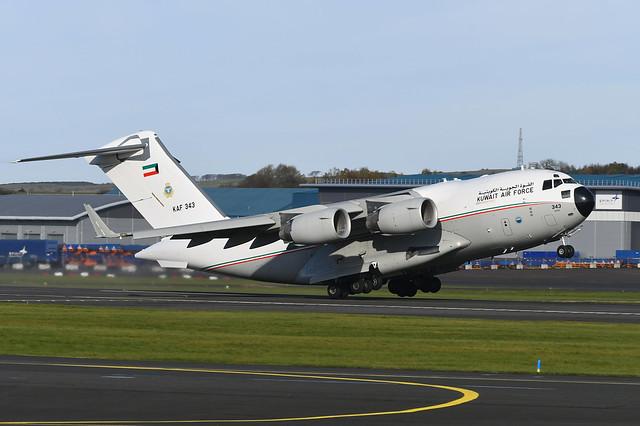 KAF343 Boeing C17A Globemaster III EGPK 10-11-19