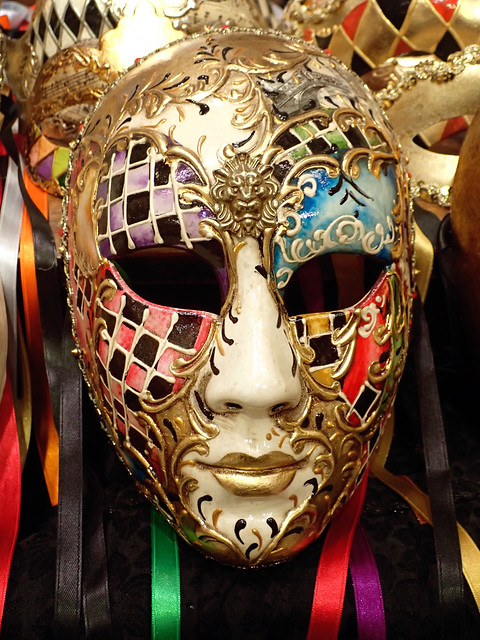 Italy 2019, Venice, Tragicomica workshop mask-for-sale 2