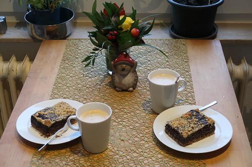 Mohnkuchen zum Nachmittagskaffee