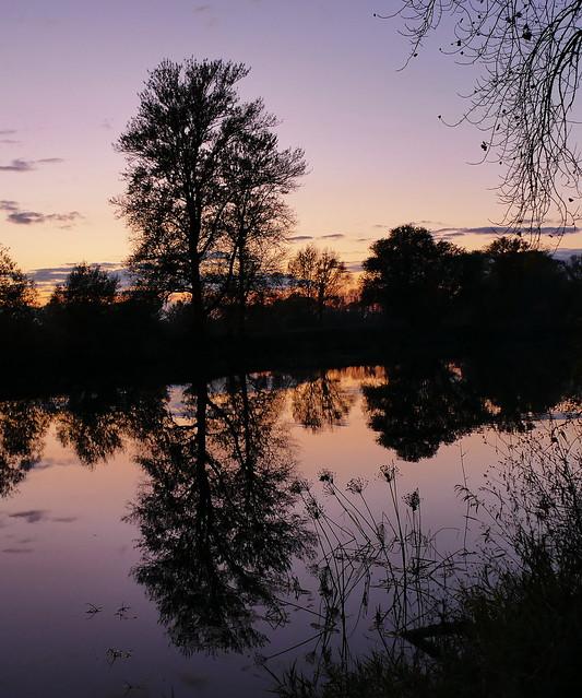 Fluss Spiegelung / river reflection