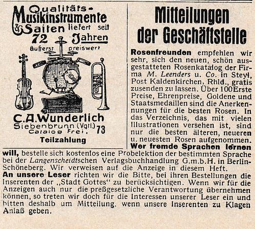 Ad for 1927 rose catalog