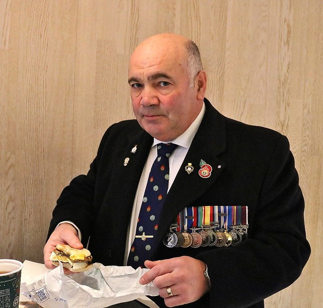 A hearty breakfast prior to the Remembrance Service.....